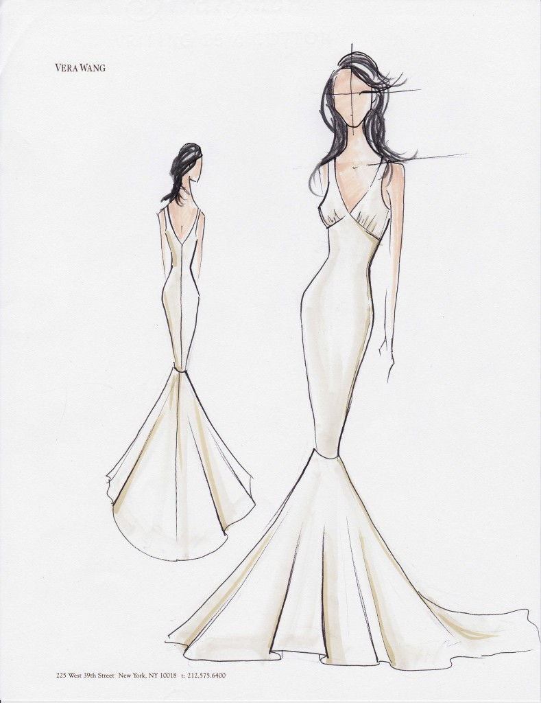 Vera Wang – Kim Kardashian\'s Wedding Gown Sketches | SMD - Weddings Blog