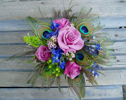Peacock Feather Bouquet Image Courtesy Of HubPages